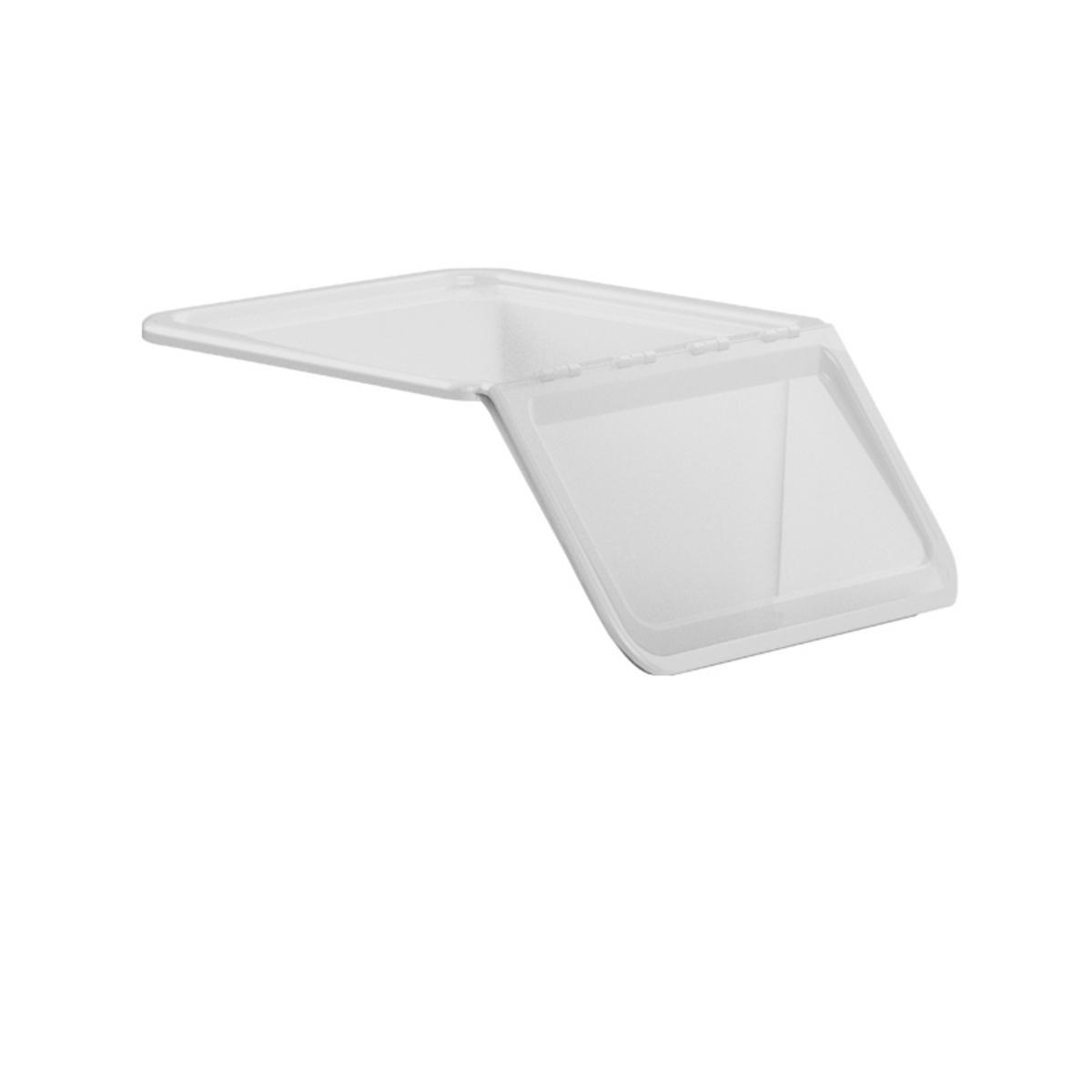 Couvercle pour bac à ingrédients 40 l rectangulaire transparent plastique 40x69 cm Gilac