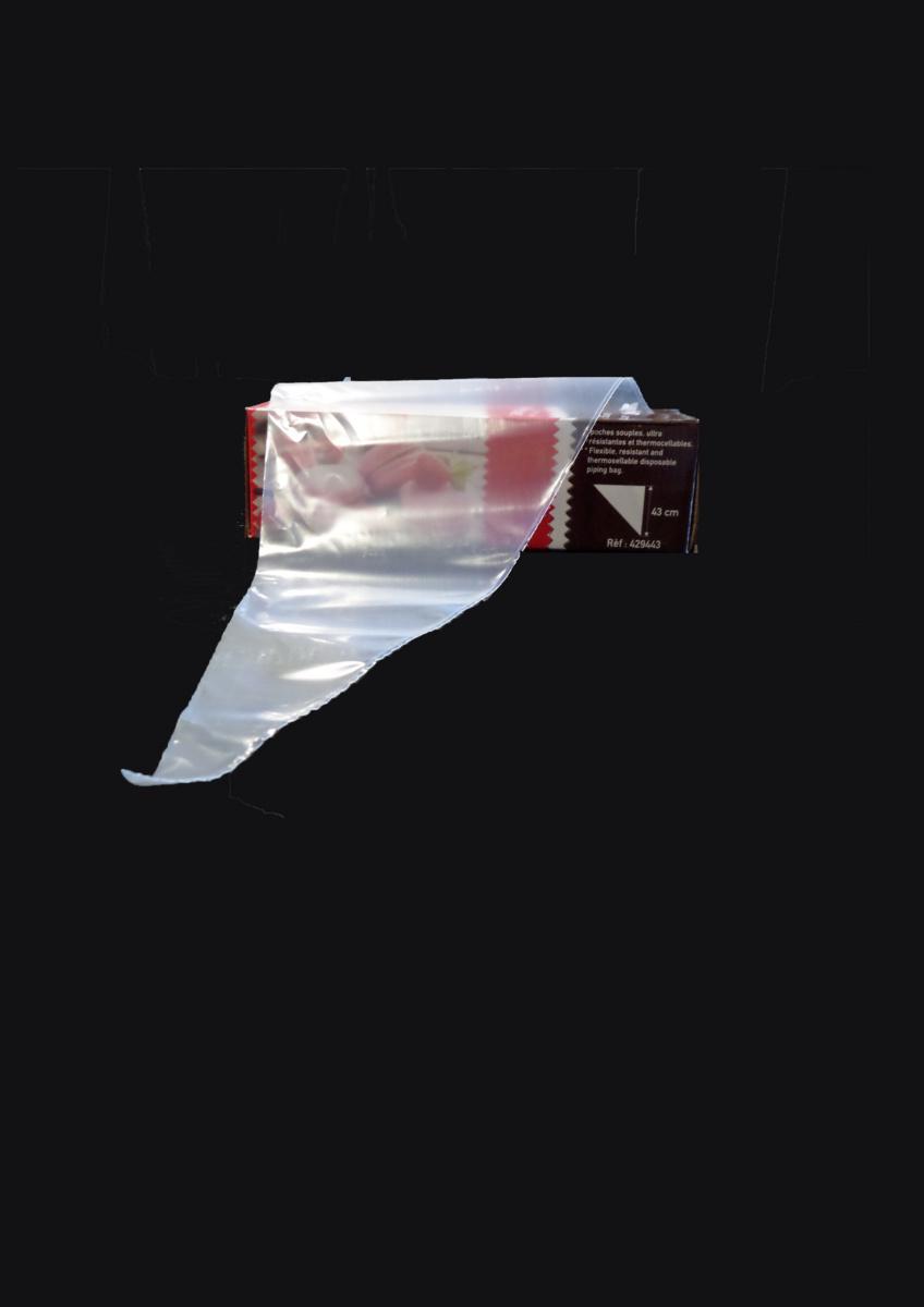 Poche patissière jetable triangulaire transparente 43x25 cm 80 µm (100 pièces)