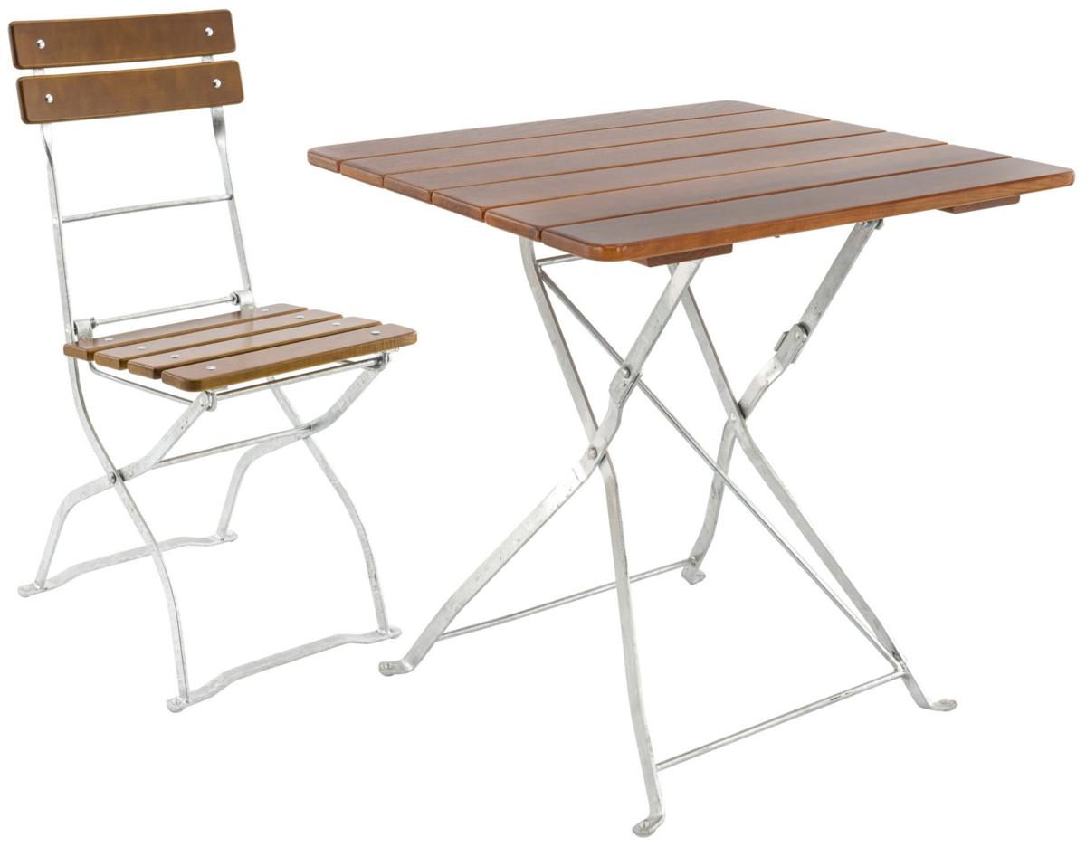 Table pliante noyer 70x70 cm Max