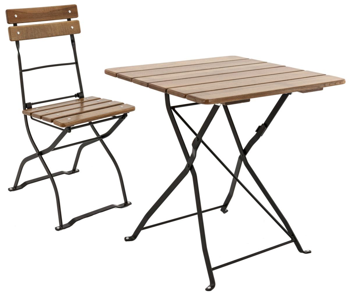 Table pliante old grey 70x70 cm Max