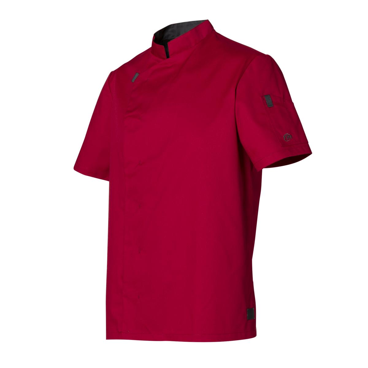 Veste de cuisine rouge taille 4 Shade Molinel
