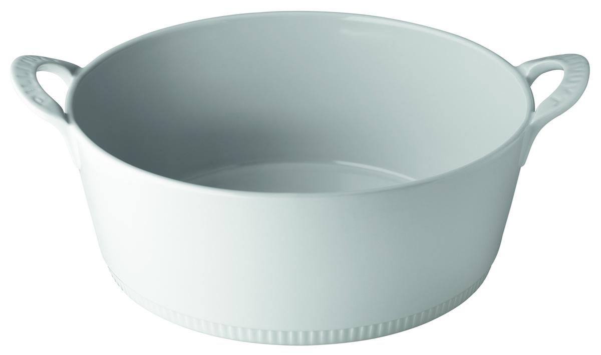 Cocotte sans couvercle ronde blanc porcelaine Ø 24 cm Toulouse Pillivuyt
