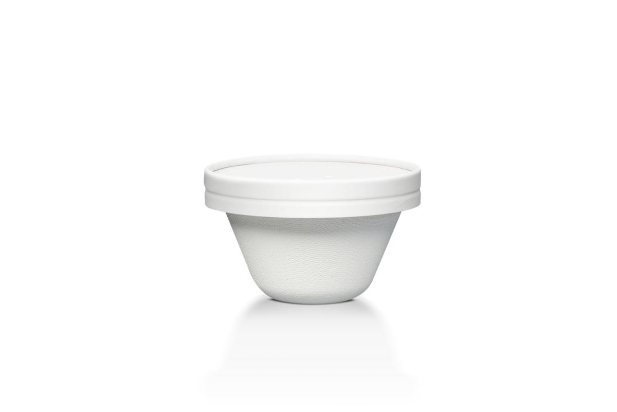 Bol rond blanc Ø 11,60 cm 350 ml Duni (50 pièces)