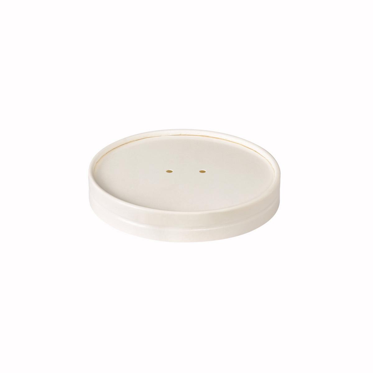 Couvercle rond blanc Ø 11,60 cm Duni (25 pièces)