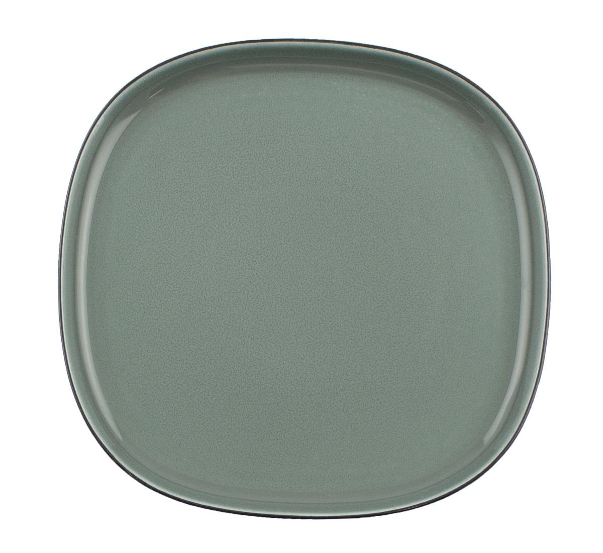 Assiette coupe plate carrée porcelaine 22x22 cm Ikon Ariane