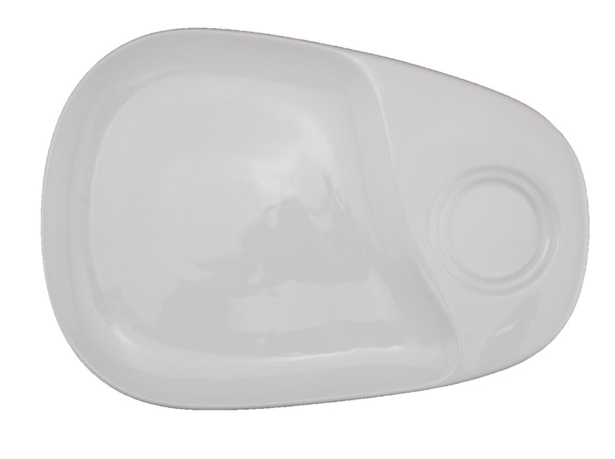 Sous-tasse à café gourmand ovale ivoire porcelaine 23 cm Pro.mundi