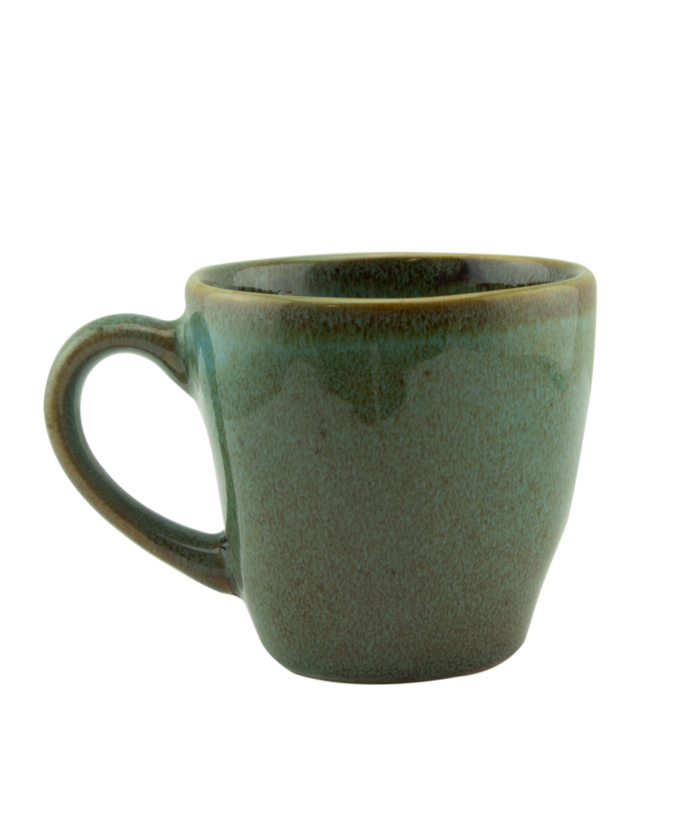 Tasse à expresso verte grès Ø 6,20 cm Sky Pro.mundi
