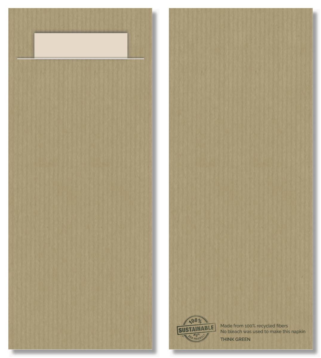 Pochette beige ouate de cellulose 20x8,50 cm (100 pièces)