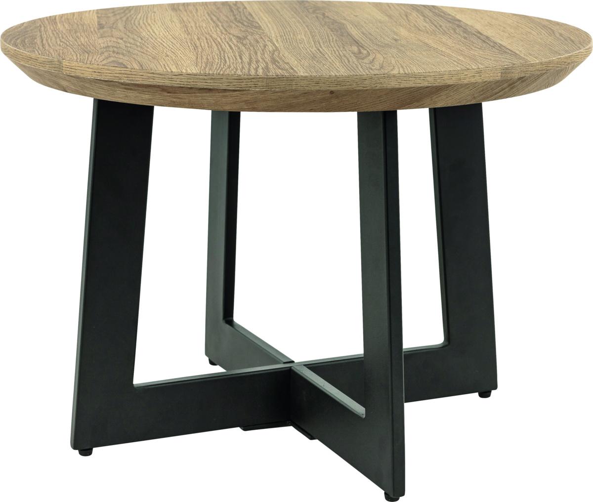 Table noire Ø 60 cm Ellen