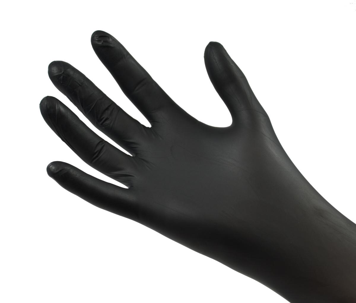 Gants nitrile noir taille l (100 pièces)