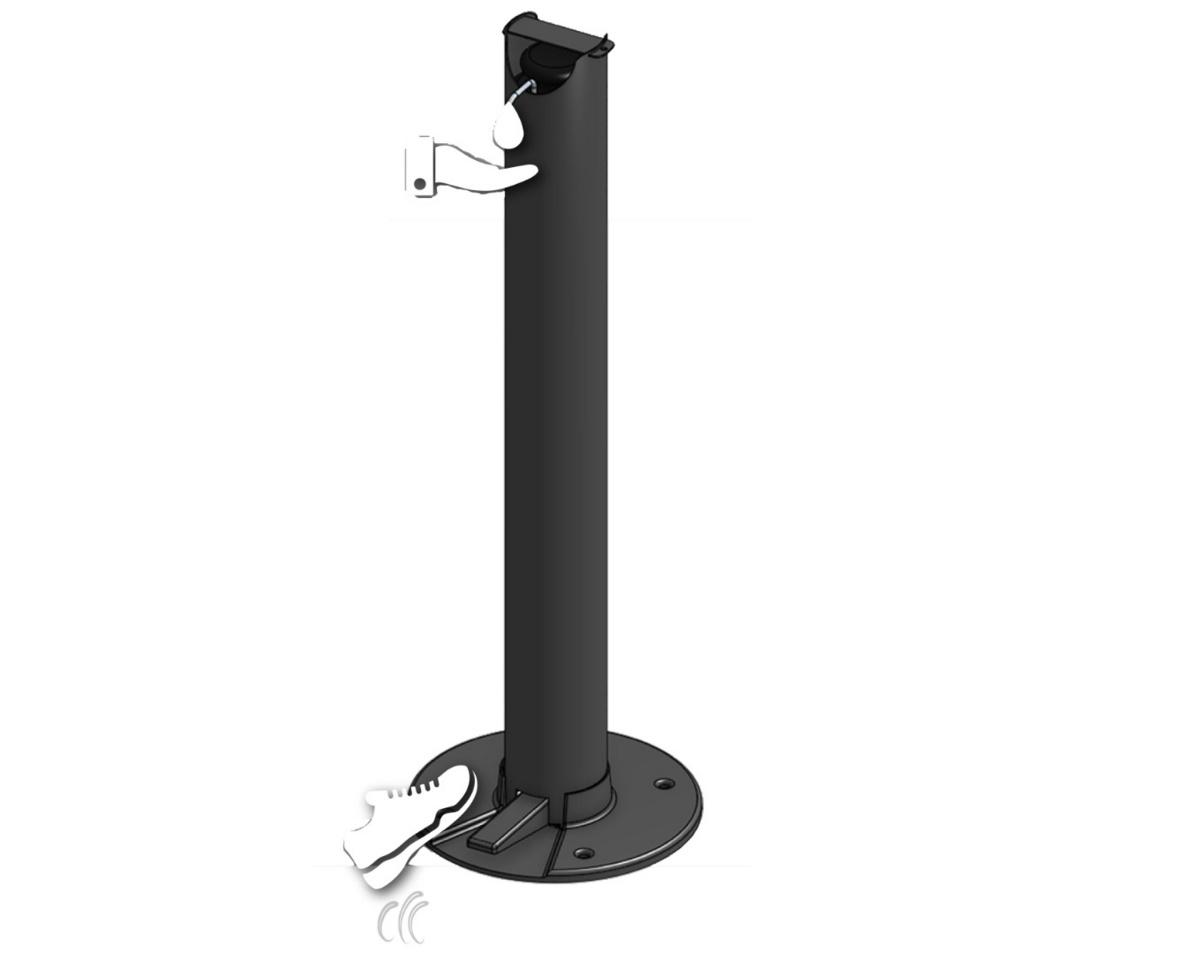 Distributeur à savon noir Ø 11,40 cm