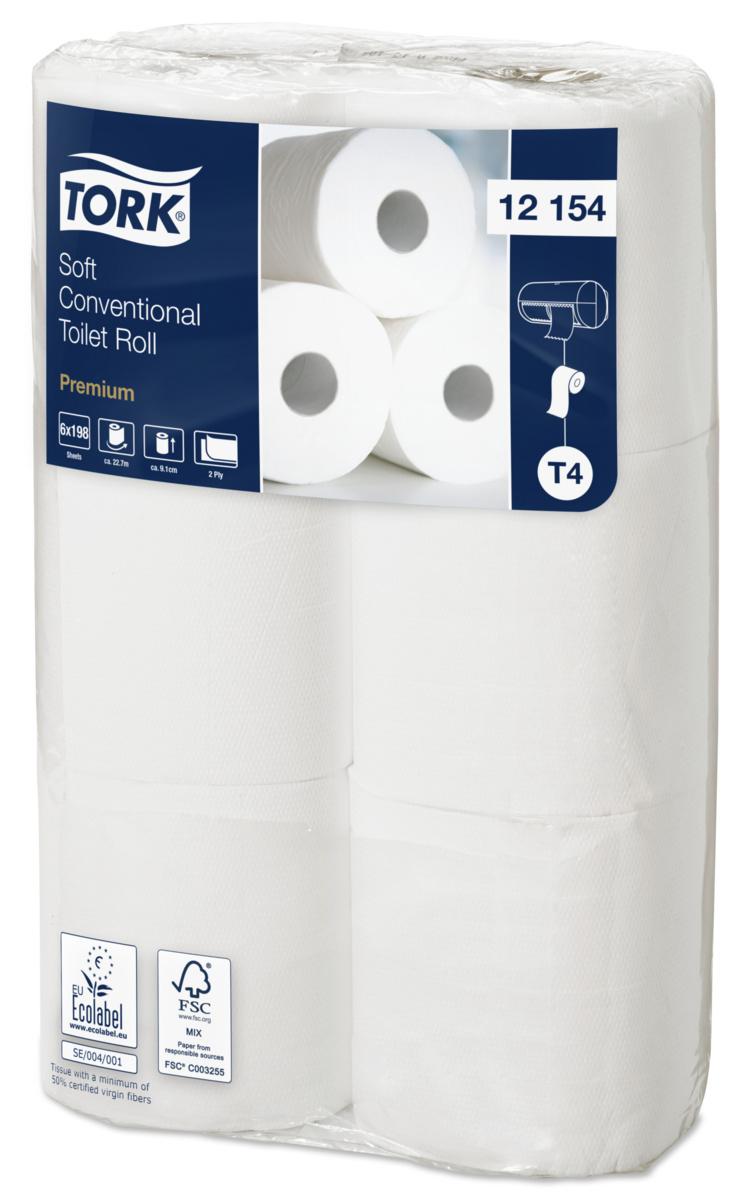 Papier toilette en rouleau blanc 9,10x22,77 cm Tork (96 pièces)