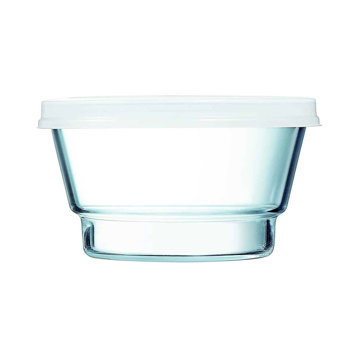 Bol avec couvercle rond transparent verre 80 cl Ø 140 mm So Urban Arcoroc