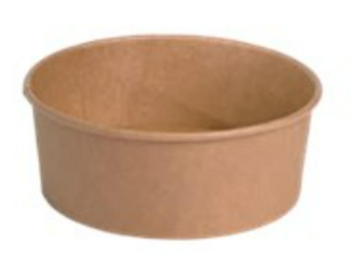 Pot marron Ø 16,60 cm 1100 ml (50 pièces)