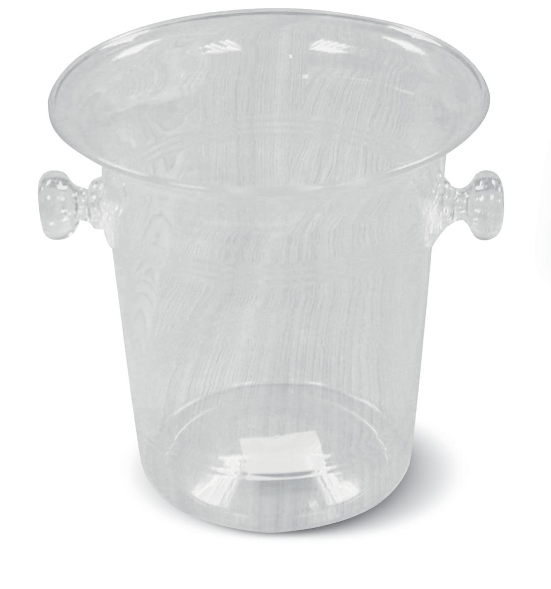 Seau à bouteille transparent Ø 20,50 cm